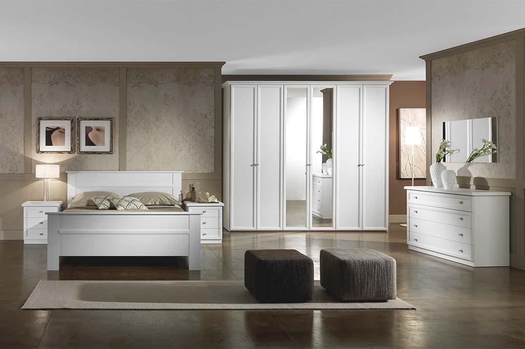Ginevra bianca camere da letto classiche mobili sparaco for Lube camere da letto