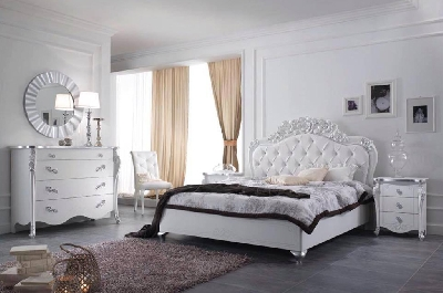 Camere da letto classiche mobili sparaco for Camere da letto bianche