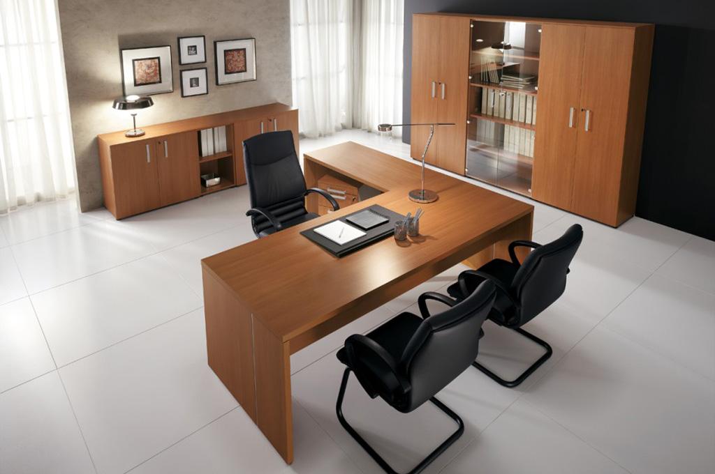 Go ciliegio uffici mobili sparaco for Offerte arredo ufficio