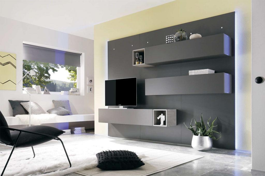 Cube evolution 02 soggiorni moderni mobili sparaco - Soggiorno parete attrezzata moderna ...