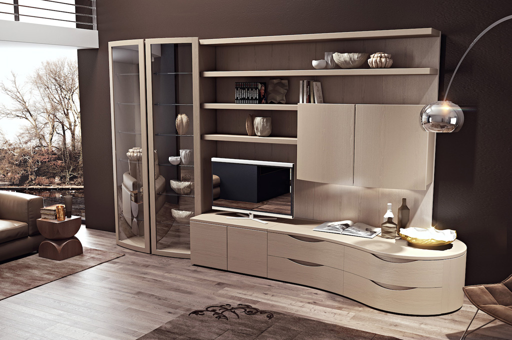 Dream glamour soggiorni moderni mobili sparaco for Mobili da soggiorno moderni