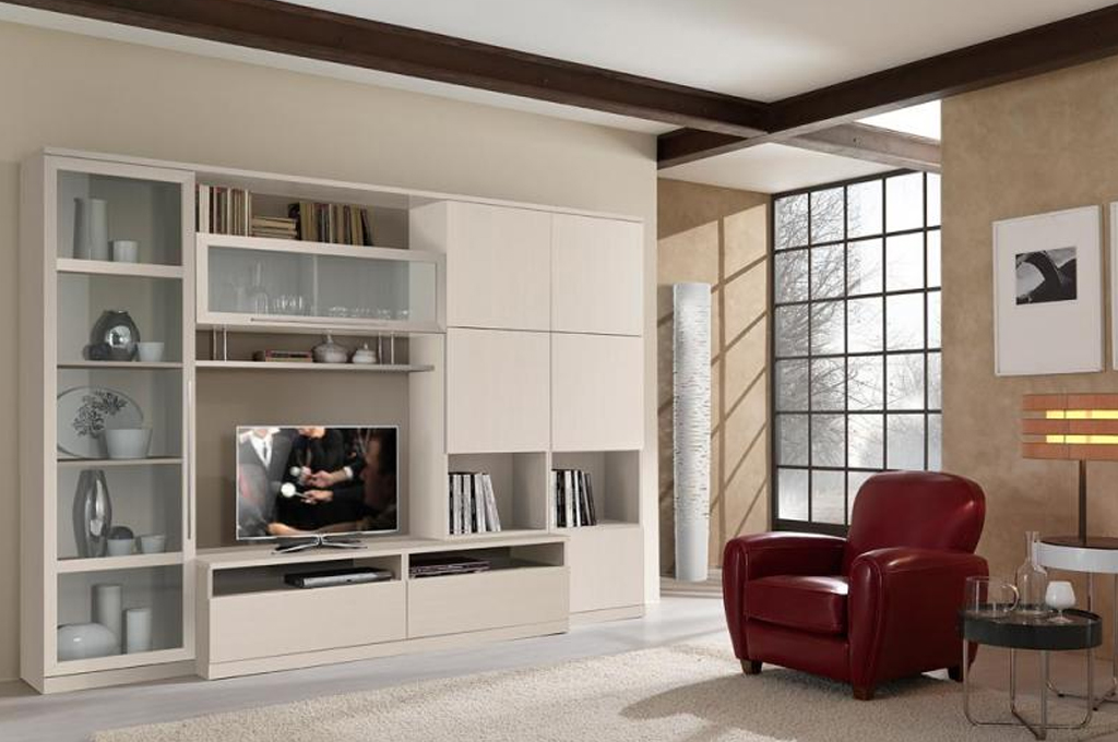 Smit new soggiorni moderni mobili sparaco - Parete attrezzata ingresso ...