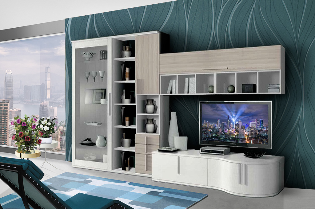 Vela soggiorni moderni mobili sparaco for Mobilia spazio