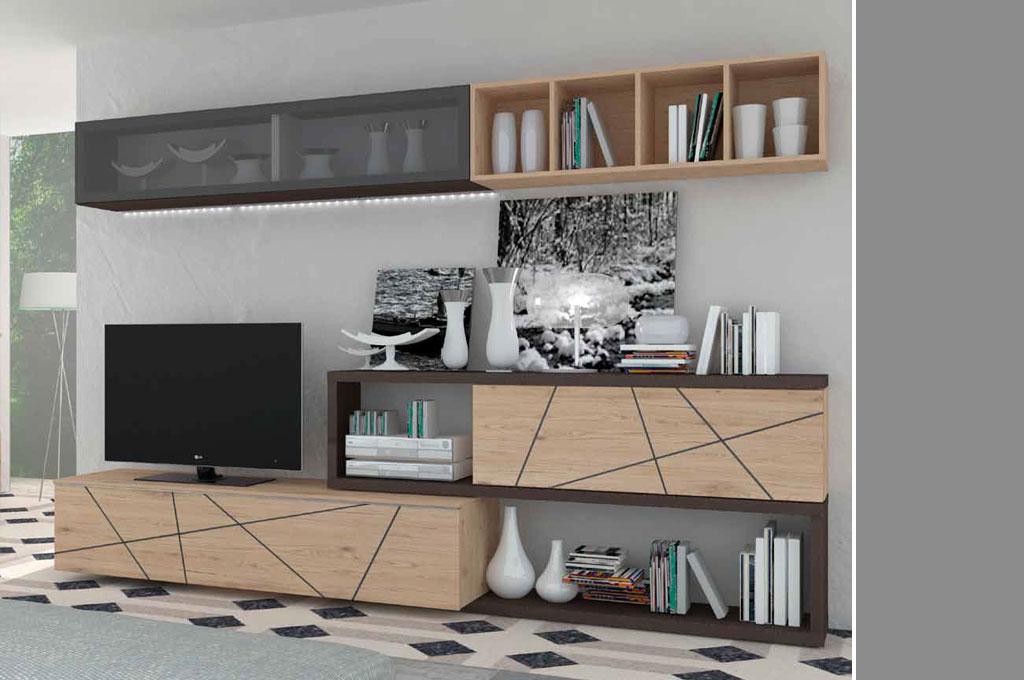 Kross 203 soggiorni moderni mobili sparaco for Soggiorni pareti attrezzate