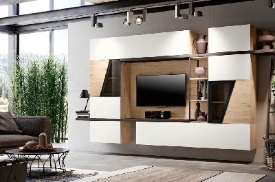 Soggiorni moderni mobili sparaco for Parete attrezzata moderna soggiorno