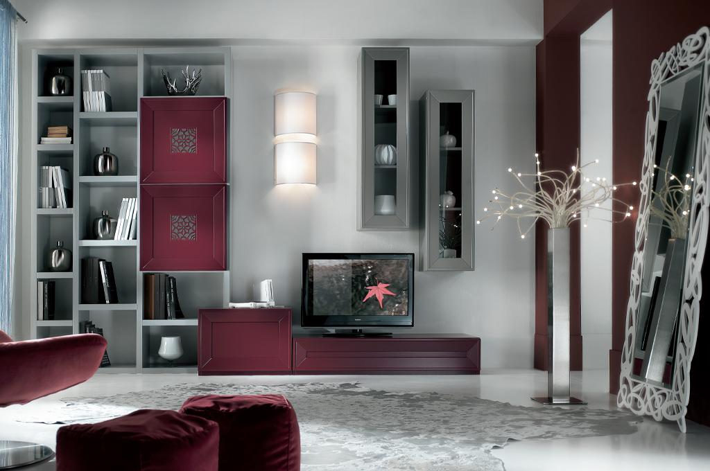 Mosca soggiorni moderni mobili sparaco - Mobili soggiorno legno massello ...