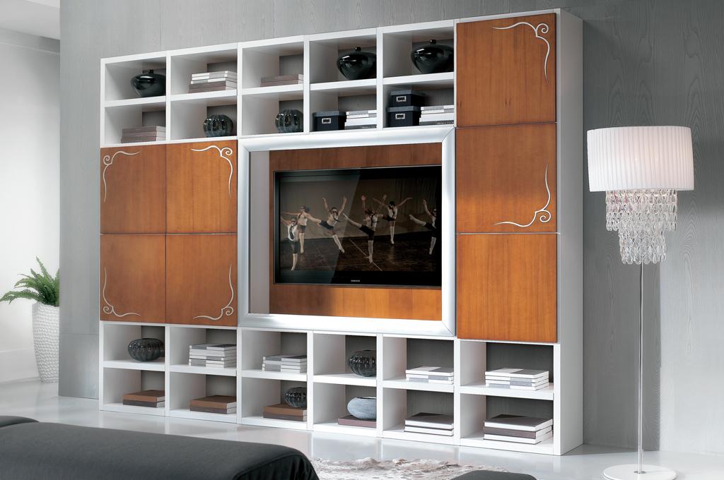 Panama soggiorni moderni mobili sparaco - Mobili soggiorno legno massello ...