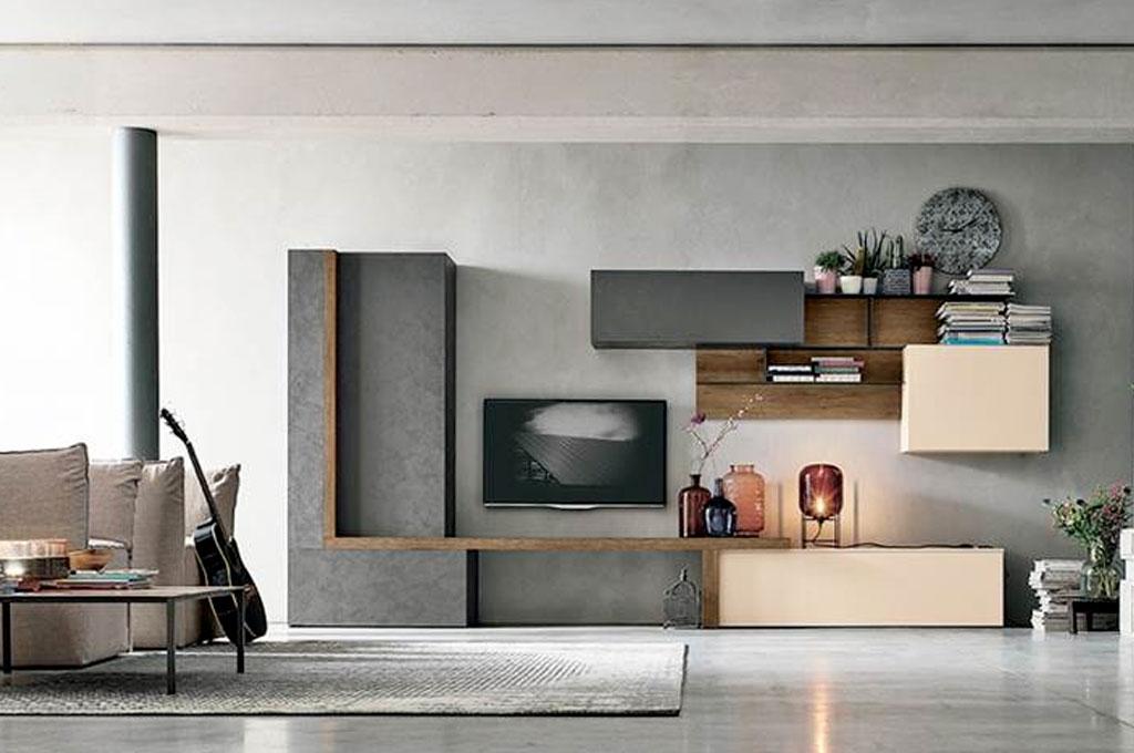Atlante soggiorni moderni mobili sparaco for Parete attrezzata moderna sospesa