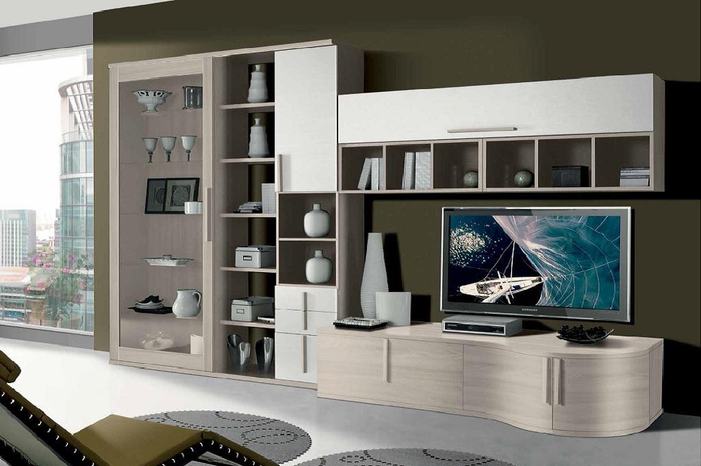 Vela soggiorni moderni mobili sparaco for Parete attrezzata angolare