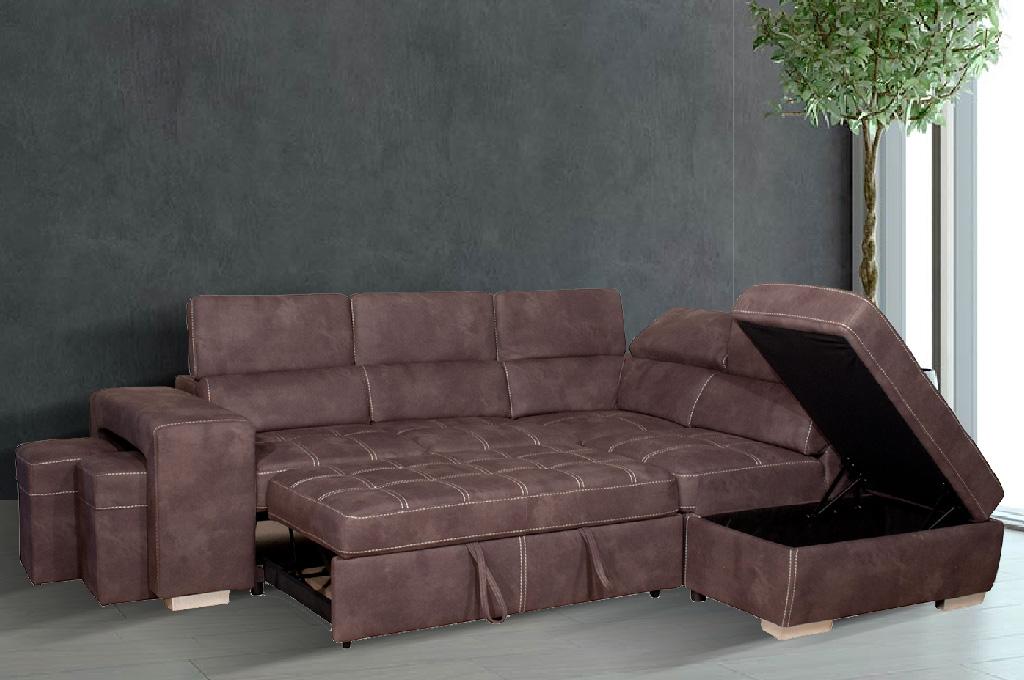 Arezzo divani moderni mobili sparaco for Divano con pouf