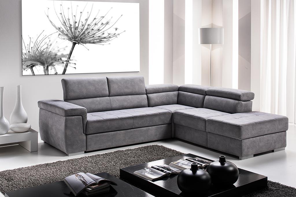 Delmar divani moderni mobili sparaco - Divano ad l ...