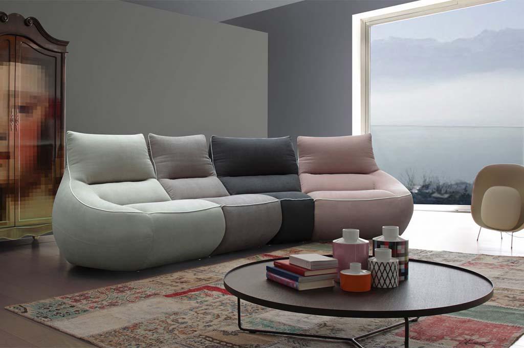 Rumba divani moderni mobili sparaco for Divani mobilia