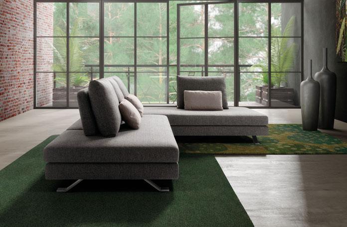Harmony divani moderni mobili sparaco for Divano senza schienale