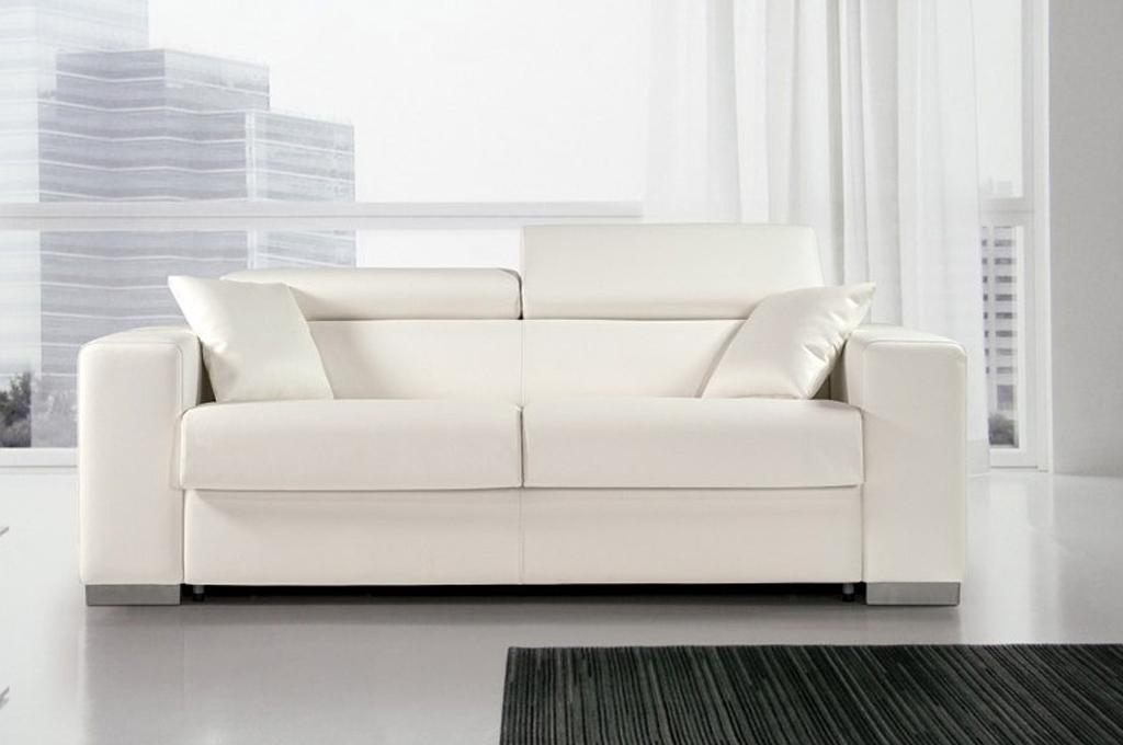 Divano Letto Bianco Ecopelle : Sidney divani moderni mobili sparaco